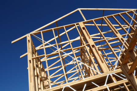 residential home: New residential construction home framing vertical image