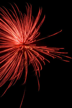aerial bomb: Colorful holiday fireworks on black sky background