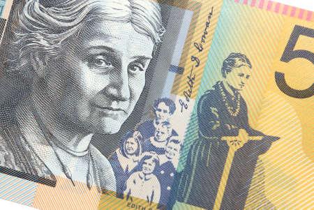 edith: 50 Australian Dollars with portrait of Edith Cowan social worker and feminist Stock Photo