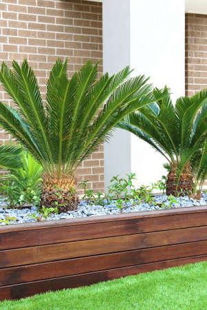 Modern landscaping exterior details in Australia vertical image