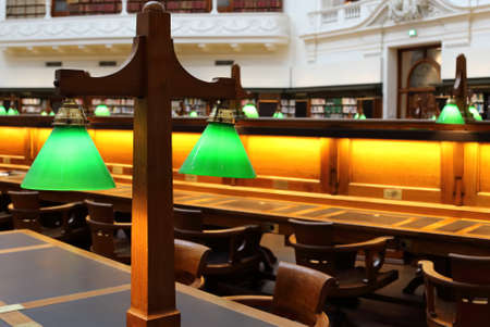 State Library of Victoria classic old reading room