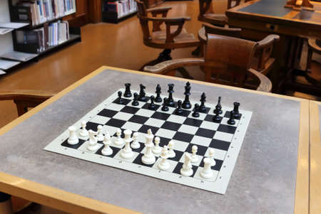 State Library of Victoria classic old reading and chess room