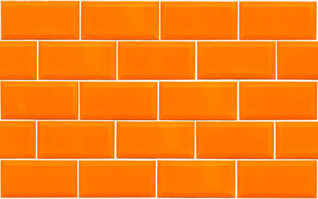 Orange rectangle tile texture of wall interior of bathroom, pool, kitchen Banque d'images