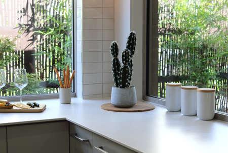 Kitchen interior contemporary design in modern style