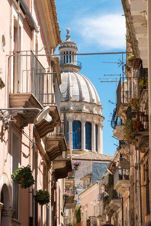 ragusa: Ragusa Ibla small town in Silcily Stock Photo