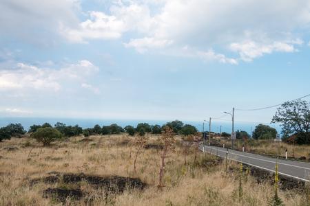 Mountain Road on mount Etna Sicily photo