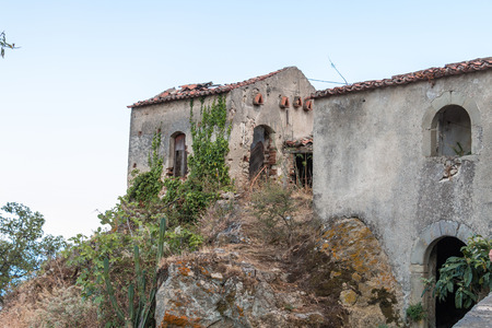 agrigento: Ruins of ancient houses Stock Photo