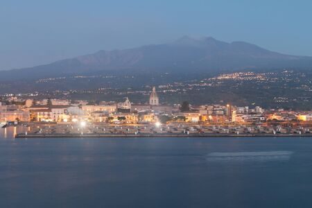 Volcano Etna photographed from Ripon before dawn photo