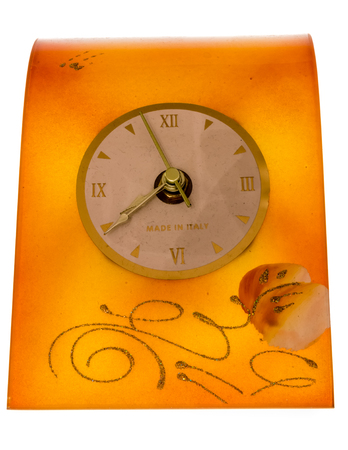 favor: Favor clock on glass yellow and battery powered