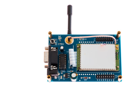 Electronic board with gsm modem and antenna