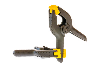carpenter vise: Plastic clamps with with internal spring a