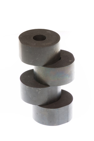 Rubber spacers strong for machinery industrial Stock Photo