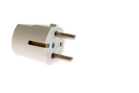 16 ampere white schuko plug with center pin