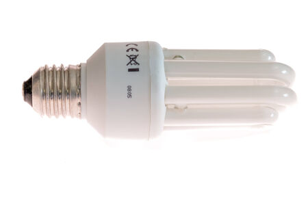 power saving lamp: Fluorescent saving lamp various power and form Stock Photo