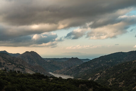 views from the mountains in Sicily photo