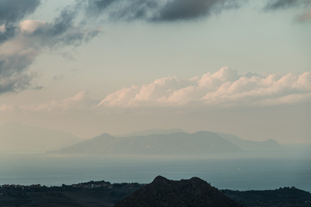 aeolian: Aeolian Islands, nebrodi views from the mountains in Sicily