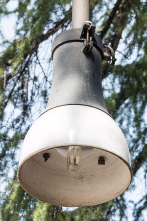 Hanging type street lamp with metal halide lamp photo