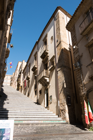 steps and staircases: Famous staircase of Caltagirone in Sicily known for ITS ceramics Editorial