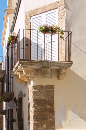 steps and staircases: Famous city of Caltagirone Sicily known for ITS ceramics Stock Photo