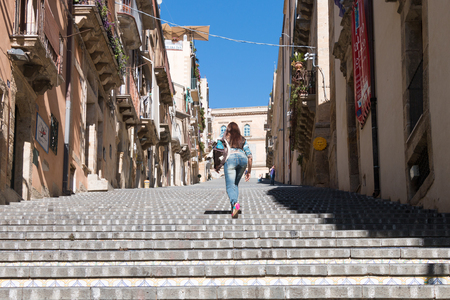 known: Famous staircase of Caltagirone in Sicily known for its ceramics