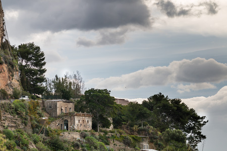 bella: Isola Bella Taormina in a cloudy day Stock Photo