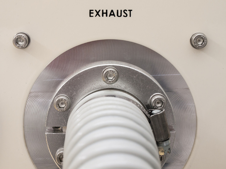 exhaust pipe: Clean room machine Exhaust pipe with flange