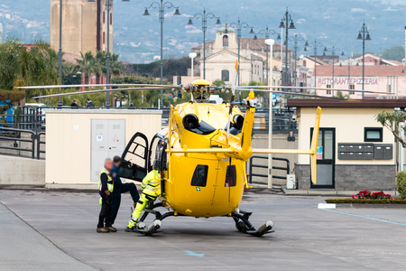 landed: Yellow Air Ambulance landed in Riposto for car crash