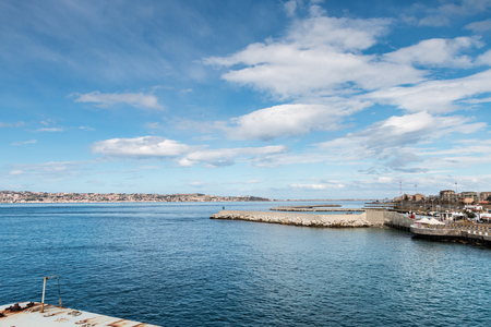 docking and harbor view of Messina Sicily