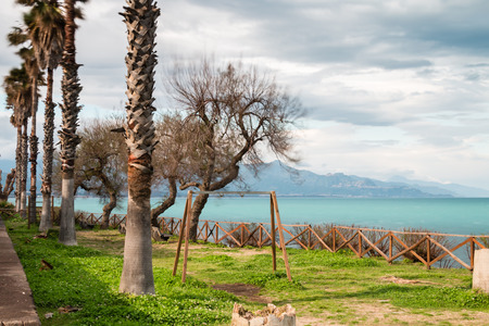 touristic: Riposto Sicily Ionian Coast touristic port of Etna Stock Photo