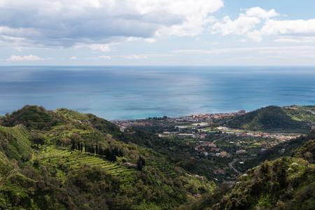 Views of Savoca very beautiful village in Sicily Foto de archivo