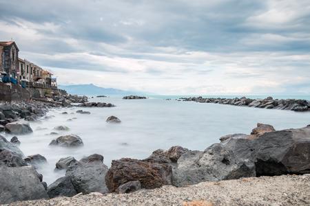 Riposto Sicily Ionian Coast touristic port of Etna Foto de archivo