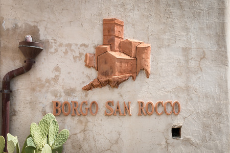 Handmade logo made of faience tipical of sicily