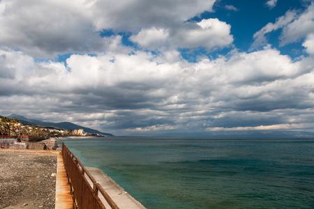 Views of Sant Alessio in wintertime Sicily Foto de archivo
