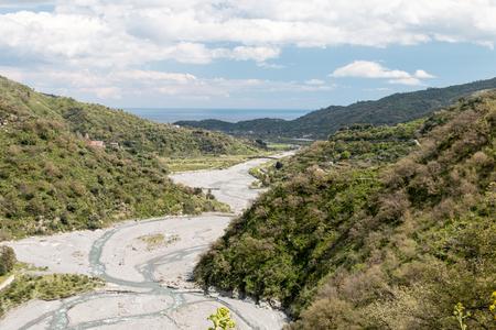 River gorge of a small river in Sicily Foto de archivo