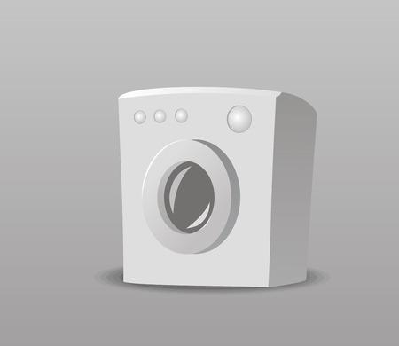 小型洗濯機のベクトル イラスト