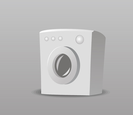 Vector illustration of a small washing machine