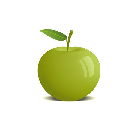 This is a vector illustration of an apple