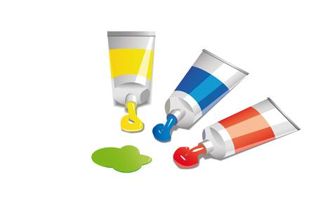 illustration of tubes with paint Stock Vector - 5535929