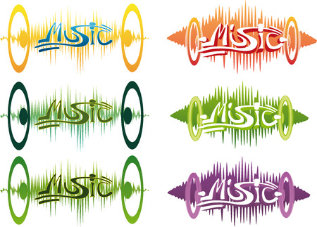 music theme vector graffity illustration