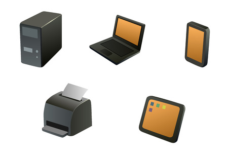 nettop: This is a set of device icons