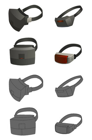 virtual reality simulator: This is a set of Virtual reality devices  concepts