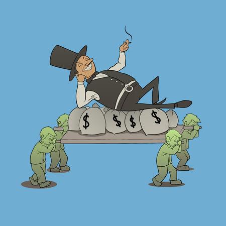 資本主義経済型圧力のイラスト