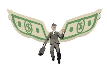 elated: an illustration of elated businessman