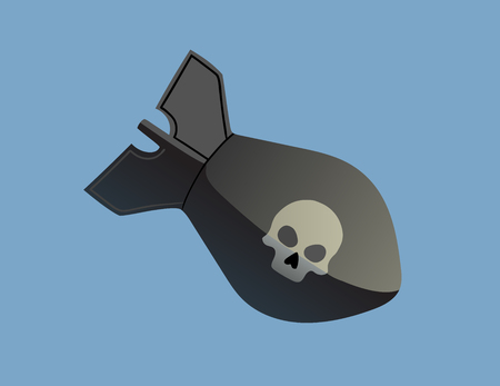 judgement day: This is an illustration of bomb with skull