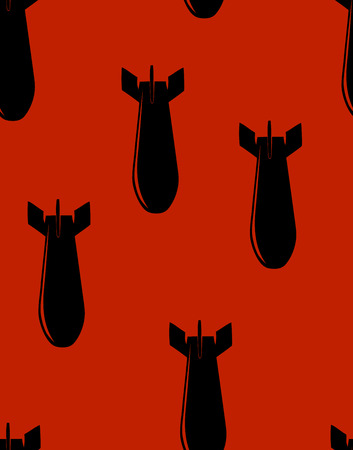 judgement day: This is a seamless pattern of bombs on red Illustration