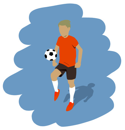 illustration of a football player Vector