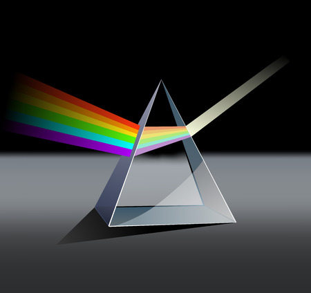 prism: this an illustration about optics theme