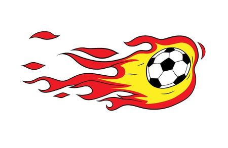 This is an illustration on soccer thematics Vector