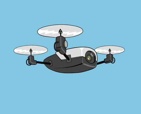 this is an illustration of drone with camera