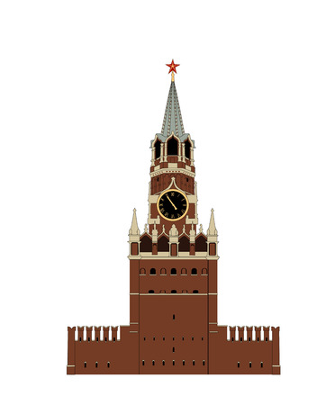Kremlin tower  Heavy illustration  Best on stock  Vector